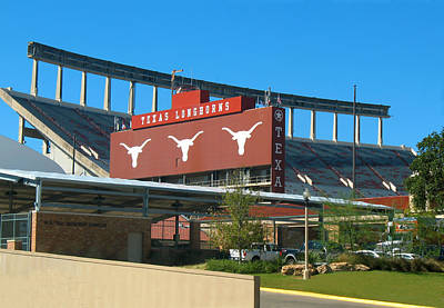 Texas Memorial Stadium - U T Austin Longhorns Poster
