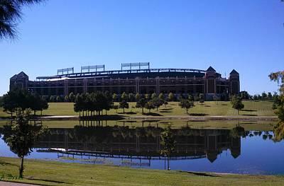 Texas Rangers Reflection Poster