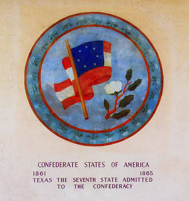 Texas - Seventh State Admitted To The Confederacy Poster by Mountain Dreams