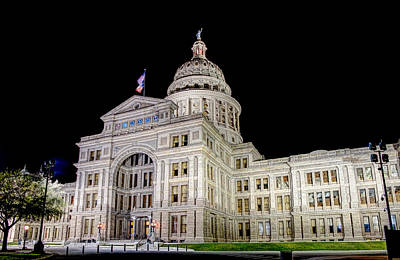 Poster featuring the photograph Texas State Capitol by Tim Stanley