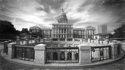 Texas State Capitol Vi Poster by Joan Carroll
