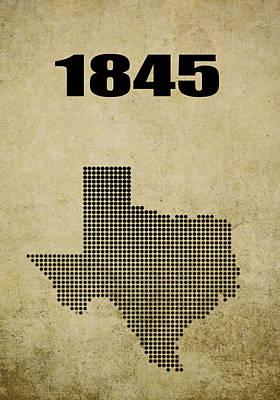 Texas Statehood 2 Poster