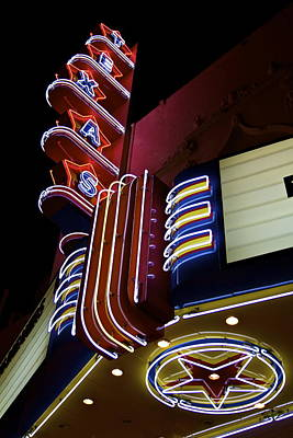 Poster featuring the photograph Texas Theatre Marquee by John Babis
