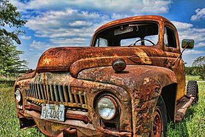 Texas Truck Poster by Daniel Sheldon