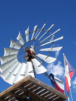 Texas Windmill Poster