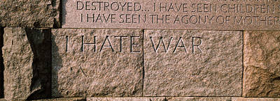 Text Engraved On Stones At A Memorial Poster by Panoramic Images