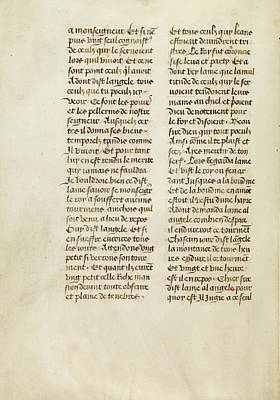 Text Page Unknown Ghent, Belgium, Europe 1475 Tempera Colors Poster by Litz Collection