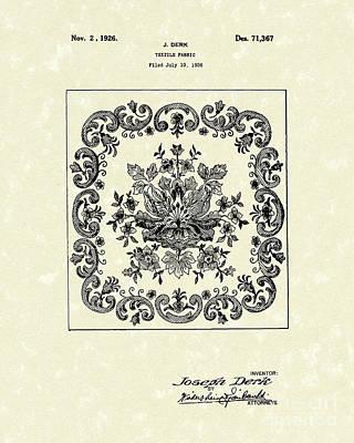 Textile Fabric 1926 Patent Art Poster