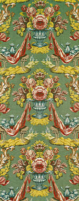 Textile With A Repeating Floral Motif, Lyon Workshop, Circa 1730 Silk Brocade Poster