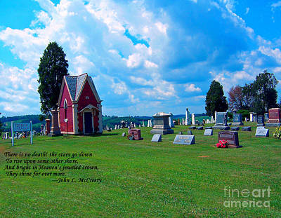 Poster featuring the photograph Fryburg Cemetery by Gena Weiser