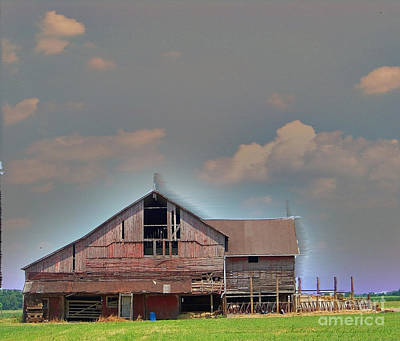 Poster featuring the photograph Textured - Grey Barn by Gena Weiser