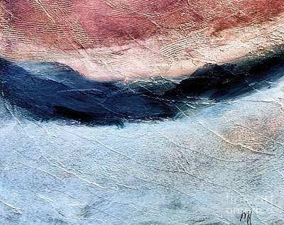Textured Landscape Abstract Poster