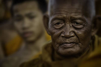 Thailand Monks 2 Poster by David Longstreath