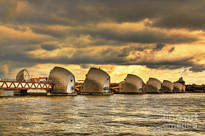 Thames Barrier Poster by Jasna Buncic