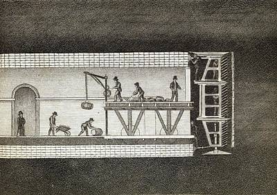 Thames Tunnel Construction Poster by Middle Temple Library