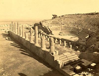 Thamugas Roman Ruins, The Theater, Algiers, Neurdein Poster