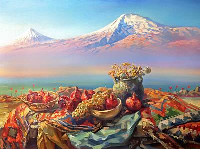 Thank You Ararat From Armenians Poster by Meruzhan Khachatryan