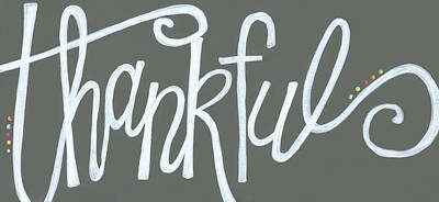 Thankful Poster by Alli Rogosich
