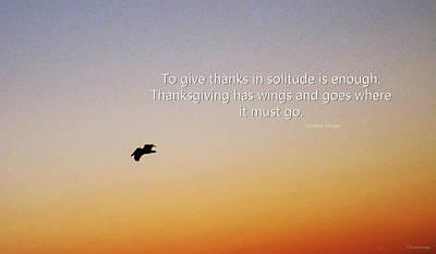 Thanksgiving Solitude Prayer - Inspiration Art  Poster by Sharon Cummings