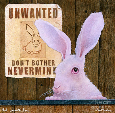 That Unwanted Hare... Poster by Will Bullas
