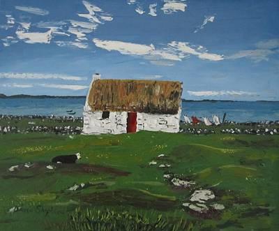 Thatch Cottage Ballyconneelly Connemara Ireland Poster
