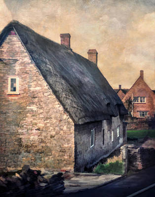 Thatch Roof Cottage Poster by David and Carol Kelly
