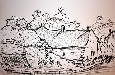 Thatched Cottage Poster by Paul Morgan