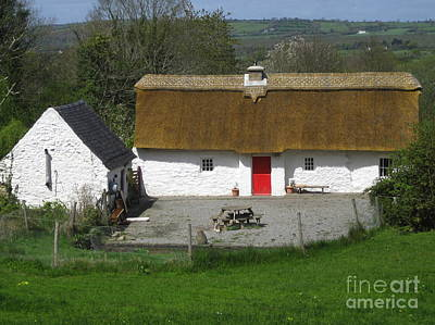 Thatched Cottage Poster by Suzanne Oesterling