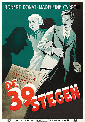 The 39 Steps - 1935 Poster by Georgia Fowler