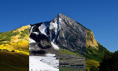 The 4 Seasons In Mt. Crested Butte Poster by Mike Schmidt