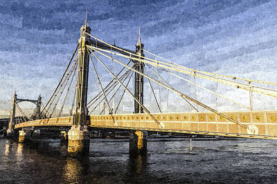 The Albert Bridge Art Poster