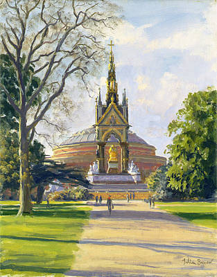 The Albert Memorial Oil On Canvas Poster by Julian Barrow