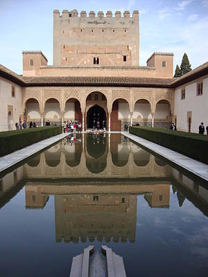 The Alhambra Palace Reflecting Pool Poster by David  Ortiz
