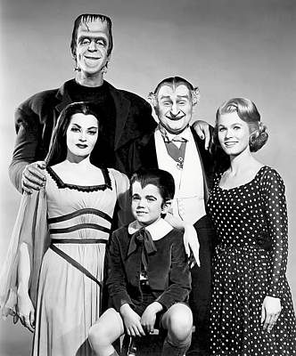 The All American Munsters Family Poster by Daniel Hagerman