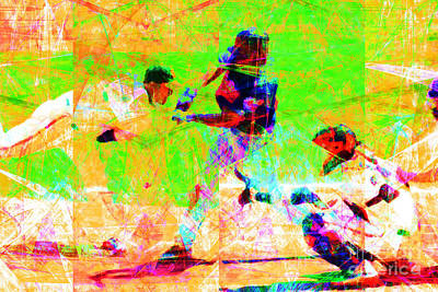 The All American Pastime 20140501 Poster by Wingsdomain Art and Photography