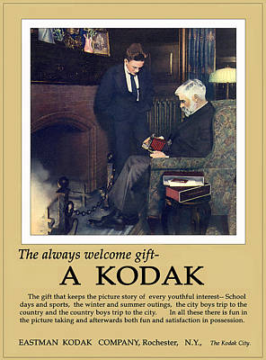 The Always Welcome Gift. Circa 1915. Poster by Unknown Photographer