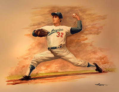 The Amazing Sandy Koufax Poster by Todd White