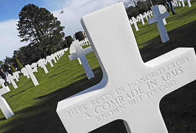 The American Cemetary In Normandy Poster by Doug Davidson