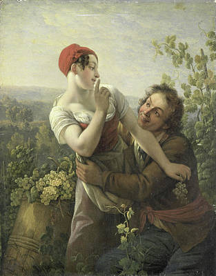 The Amorous Vineyard Laborer, Peter Paul Joseph Noël Poster