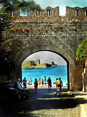 The Ancient City Of Rhodes Poster by Judy Paleologos