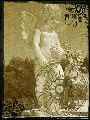 The Angel - Art Nouveau Poster by Absinthe Art By Michelle LeAnn Scott