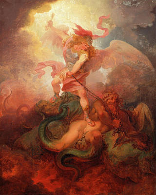 The Angel Binding Satan, Philippe-jacques De Loutherbourg Poster