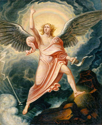 The Angel Proclaiming The End Of Time Poster