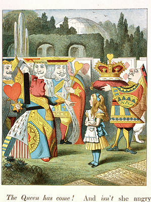The Angry Queen. The Queen Of Hearts. Poster by British Library