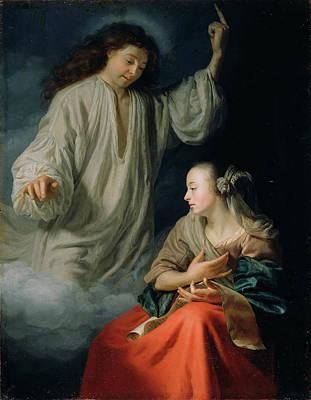 The Annunciation Godfried Schalcken, Dutch Poster by Litz Collection