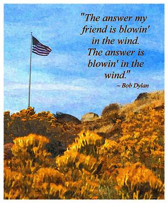 The Answer Is Blowing In The Wind Poster by Glenn McCarthy Art and Photography