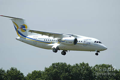 The Antonov An-148 Prepares For Landing Poster