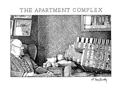 The Apartment Complex Poster by Ann McCarthy