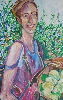 The Apple Picker Poster by Esther Newman-Cohen