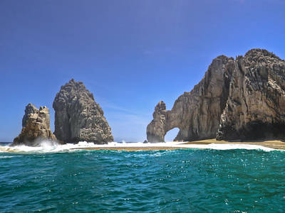 Poster featuring the photograph The Arch  Cabo San Lucas On A Low Tide by Eti Reid